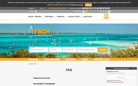 Screenshot of FAQ Page topsailingcharter.com - FAQ de Top Sailing Charter.com - Top Sailing Charter - captured June 19, 2017