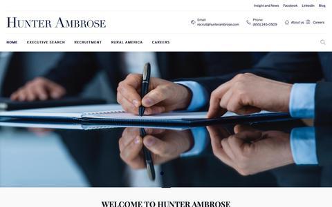 Screenshot of Home Page hunterambrose.com - Hunterambrose - captured Sept. 30, 2018