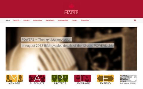 Screenshot of Home Page maplecom.co.uk - Maplecom | Maple Computing Ltd. - captured Oct. 6, 2014