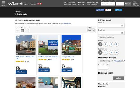 Find USA Hotels by Marriott
