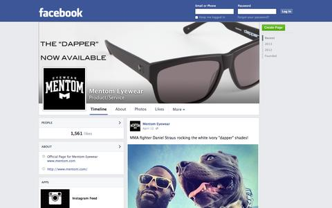 Screenshot of Facebook Page facebook.com - Mentom Eyewear | Facebook - captured Oct. 23, 2014