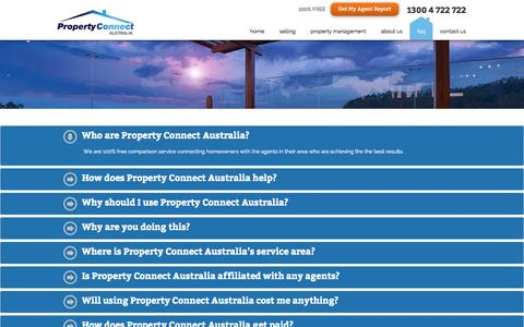 Screenshot of FAQ Page propertyconnectaustralia.com.au - FAQ - Property Connect Australia - captured Sept. 30, 2014
