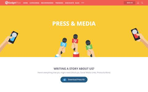 Screenshot of Press Page thegadgetflow.com - Press » The Gadget Flow - captured Nov. 29, 2015