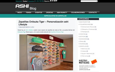 Screenshot of Blog ashisports.es - Zapatillas de moda y zapatillas deportivas - Blog de AshiBlog - captured Oct. 4, 2014