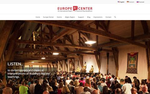 EUROPE CENTER – An International Project of Diamond Way Buddhism