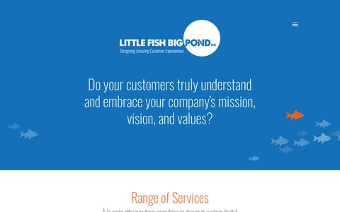 Screenshot of Services Page littlefishbigpond.ca - Range of Services | Little Fish Big Pond - captured Feb. 17, 2018