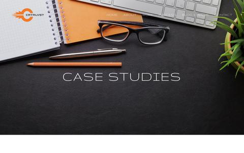 Screenshot of Case Studies Page catalystpdg.com - Case Studies — Catalyst Product Development Group - captured July 18, 2017