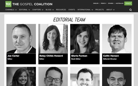 Screenshot of Team Page thegospelcoalition.org - Editorial Team - captured March 26, 2016