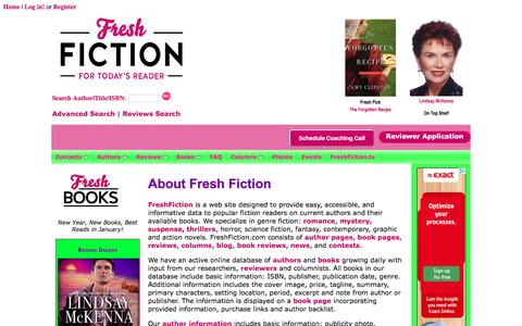 Screenshot of About Page freshfiction.com - Frequently Asked and Responses - captured Jan. 8, 2016