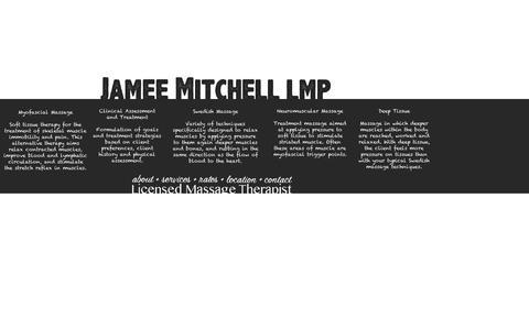 Screenshot of Services Page jameemitchell.com - Jamee Mitchell, LMP - captured Feb. 11, 2016