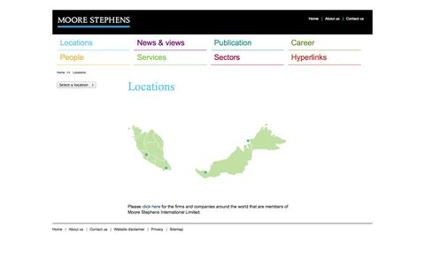 Screenshot of Locations Page moorestephens.com.my - Moore Stephens Malaysia - captured Oct. 26, 2014