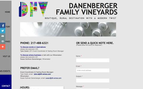 Screenshot of Privacy Page Contact Page danenbergerfamilyvineyards.com - Contact DFV - captured Oct. 25, 2014