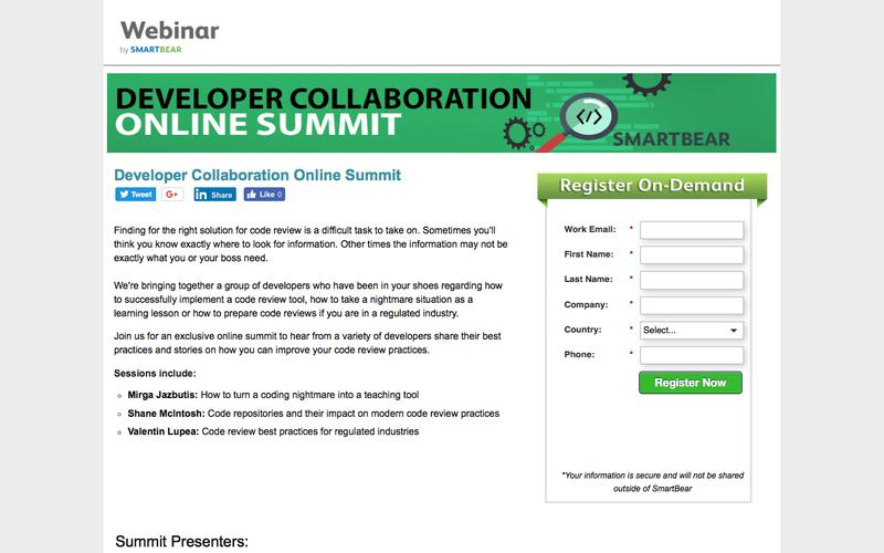 Developer Collaboration Online Summit