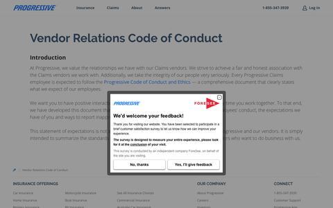 Vendor Relations Code of Conduct