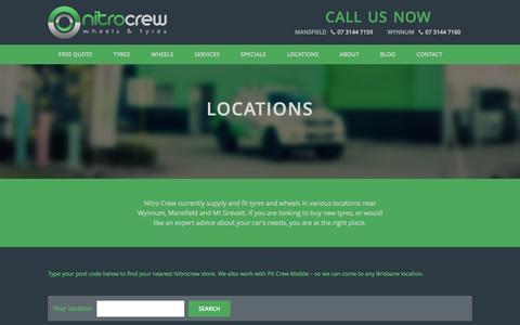Screenshot of Locations Page nitrocrew.com.au - Locations - Wheels & Tyres  - Nitro Crew - captured Nov. 30, 2016