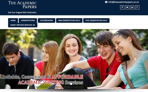 Screenshot of Blog theacademicpapers.co.uk - The Academic Papers | Get Your Degree With Distinction - captured Sept. 11, 2015