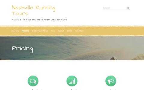 Screenshot of Pricing Page nashvillerunningtours.com - Pricing – Nashville Running Tours - captured June 11, 2017