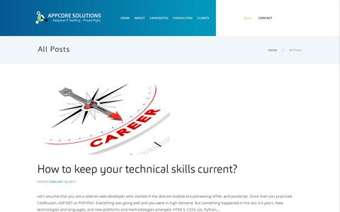 Screenshot of Blog appcoresolutions.com - All Posts – AppCore Solutions | Adaptive IT staffing – Priced Right - captured Oct. 8, 2017