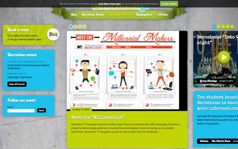 Screenshot of Blog melondistrict.com - Melon District Blog - captured Oct. 27, 2014