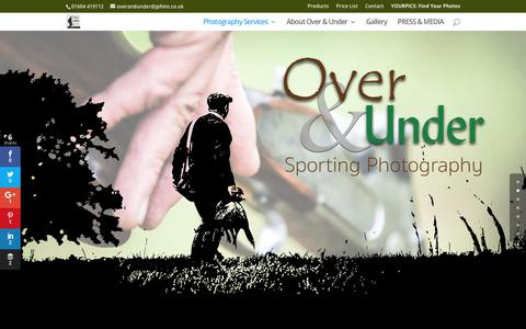 Screenshot of Home Page overandundersporting.co.uk - Game Shoot Photography - Over and Under Sporting Photography - captured Oct. 25, 2017