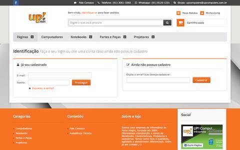 Screenshot of Login Page upcomputers.com.br - UP! Loja e Assistência de Informática - captured May 27, 2017