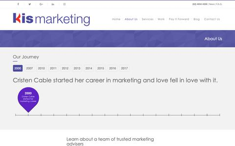 Screenshot of About Page kismarketing.com.au - Kis Marketing | Kis Marketing - captured Oct. 15, 2018