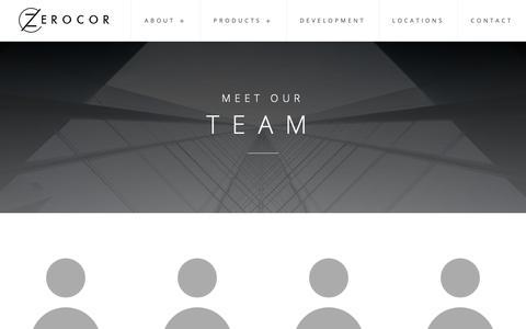 Screenshot of Team Page zerocor.com - Team - Zerocor Technologies Ltd. - captured Oct. 18, 2018