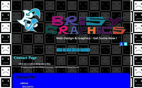 Screenshot of Contact Page brisygraphics.ie - Brisy Graphics Contact Page, Web Designer, Graphic Artist, Mallow, County Cork - captured Jan. 7, 2016