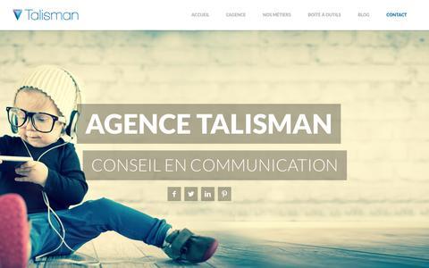 Screenshot of Contact Page Team Page agence-talisman.com - Agence Talisman - captured Oct. 28, 2014