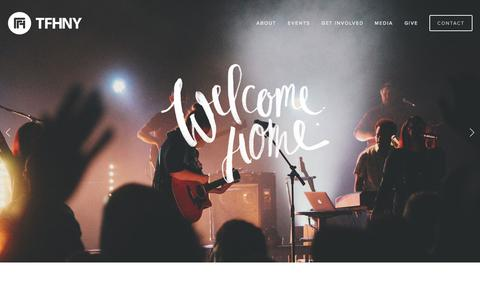 Screenshot of Home Page tfhny.org - The Father's House Church - captured Oct. 9, 2014