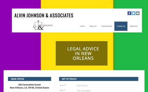 Screenshot of Contact Page ajanola.com - Alvin Johnson And Associates Llc : Contact - captured Feb. 5, 2016