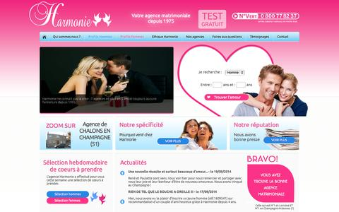 Screenshot of Home Page agence-harmonie.fr - Agence Harmonie - captured Sept. 30, 2014