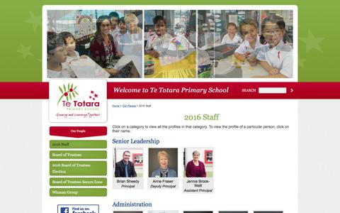 Screenshot of Team Page tetotara.school.nz - 2016 Staff - captured May 30, 2016