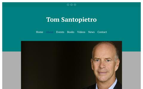 Screenshot of About Page tomsantopietro.com - About – Tom Santopietro - captured Oct. 25, 2018
