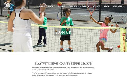 Screenshot of Signup Page kingscountytennisleague.org - Sign Up — Kings County Tennis League - captured Sept. 20, 2018