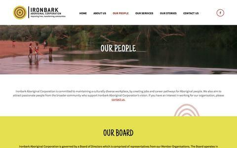 Screenshot of Team Page ironbark.org.au - Our People - Ironbark - captured Nov. 23, 2016