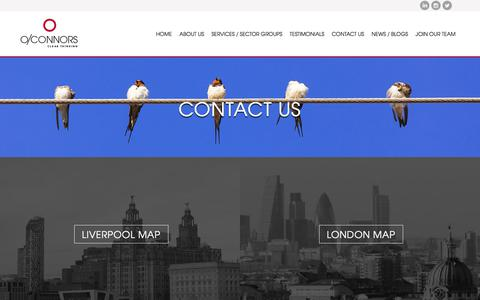 Screenshot of Contact Page oconnorsllp.co.uk - O'Connors LLP: Contact Us - captured Nov. 11, 2017