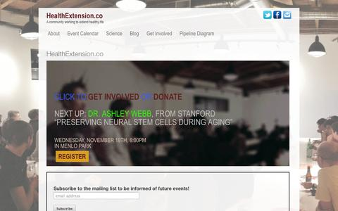Screenshot of Home Page healthextension.co - HealthExtension.co - captured Jan. 26, 2015
