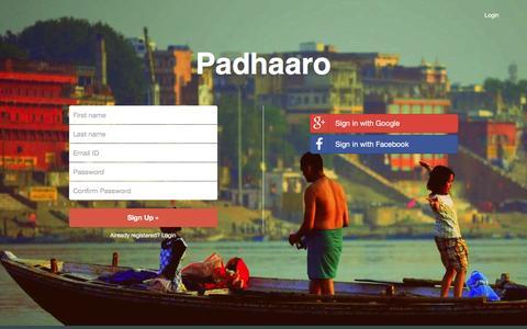 Screenshot of Signup Page padhaaro.com - Padhaaro | Signup - captured Jan. 24, 2016