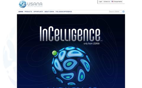 Screenshot of Home Page usana.com - USANA Health Sciences – Your Health. Your Life. Your Way. - captured Oct. 7, 2016