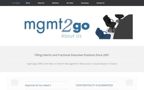 Screenshot of About Page mgmt2go.com - About Us   mgmt2go - captured July 26, 2018