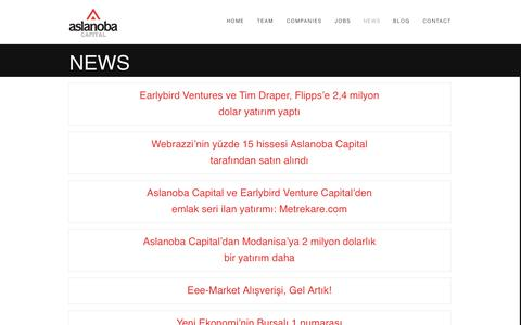 Screenshot of Press Page aslanobacapital.com - News - Aslanoba Capital - captured Sept. 19, 2014