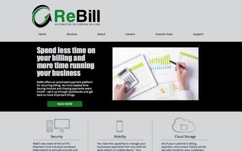 Screenshot of Home Page rebill.co - ReBill - captured Oct. 7, 2014