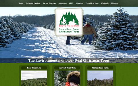 Screenshot of Home Page christmastrees.on.ca - Real Christmas Trees - captured Oct. 2, 2014
