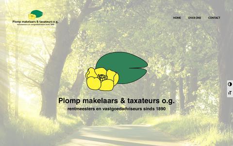 Screenshot of Home Page plompmakelaars.nl - Plomp makelaars & taxateurs – rentmeesters en vastgoedadviseurs - captured Sept. 28, 2018