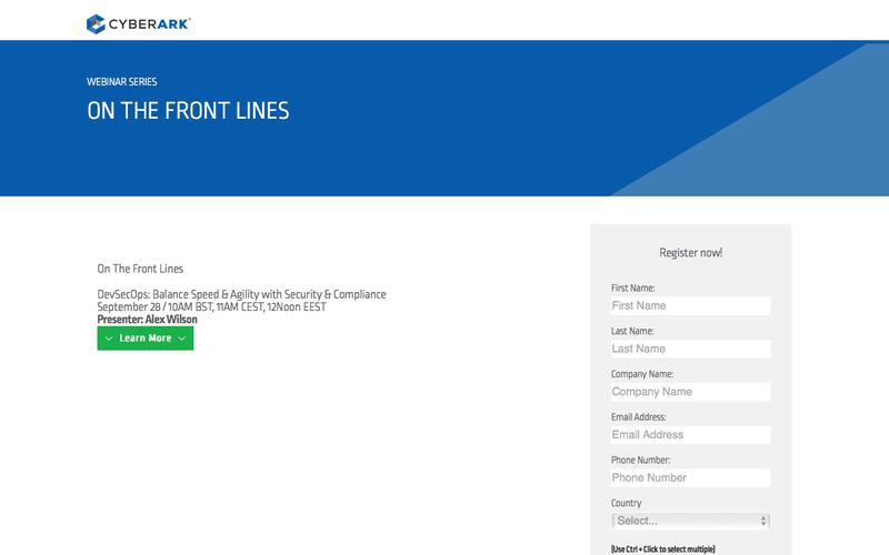 On The Front Lines - A CyberArk Webcast Series