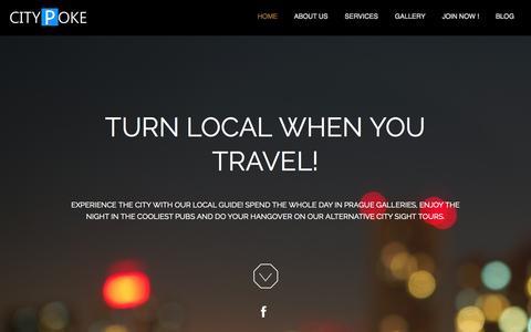 Screenshot of Home Page citypoke.com - CITYPOKE - captured Sept. 26, 2014
