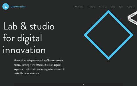 Screenshot of Home Page liechtenecker.at - Liechtenecker – Lab & Studio for digital innovation - captured Feb. 21, 2016