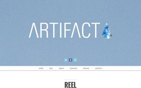 Screenshot of Pricing Page livingartifact.com - ARTIFACT creative - captured Nov. 2, 2014
