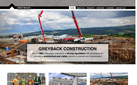 Screenshot of Home Page greyback.com - Okanagan construction company - captured Feb. 2, 2016